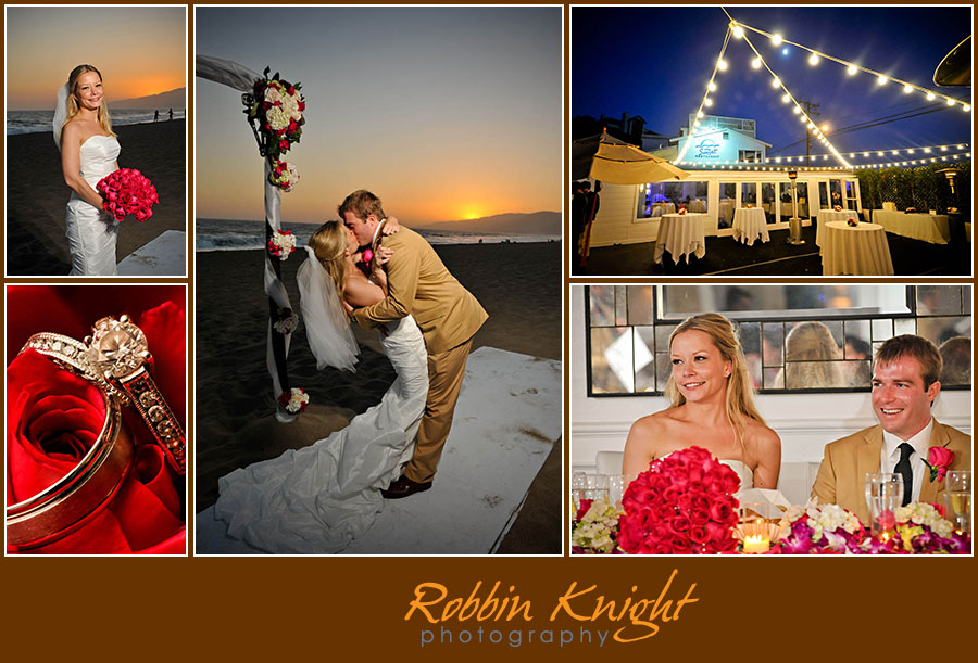 Sunset restaurant beach wedding malibu, ca