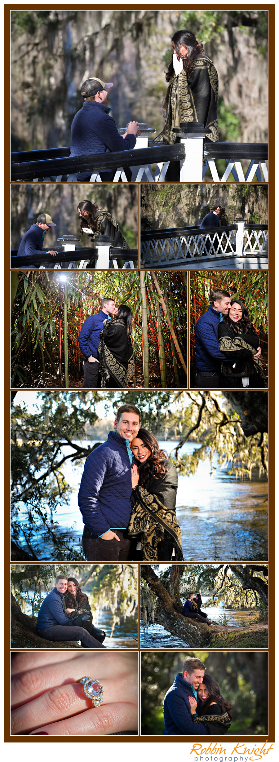 magnolia gardens surprise proposal images from Charleston SC