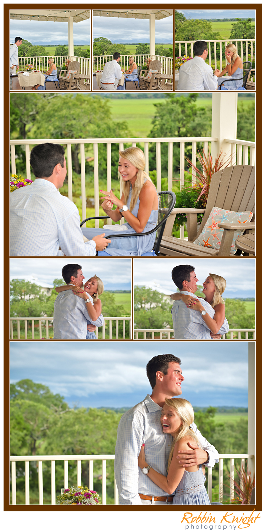 Folly Beach surprise proposal / charleston engagement shoot