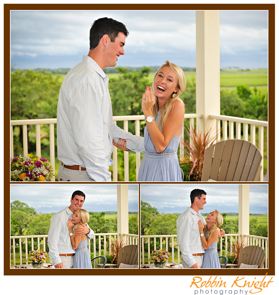 surprise proposal in charleston, sc  folly beach